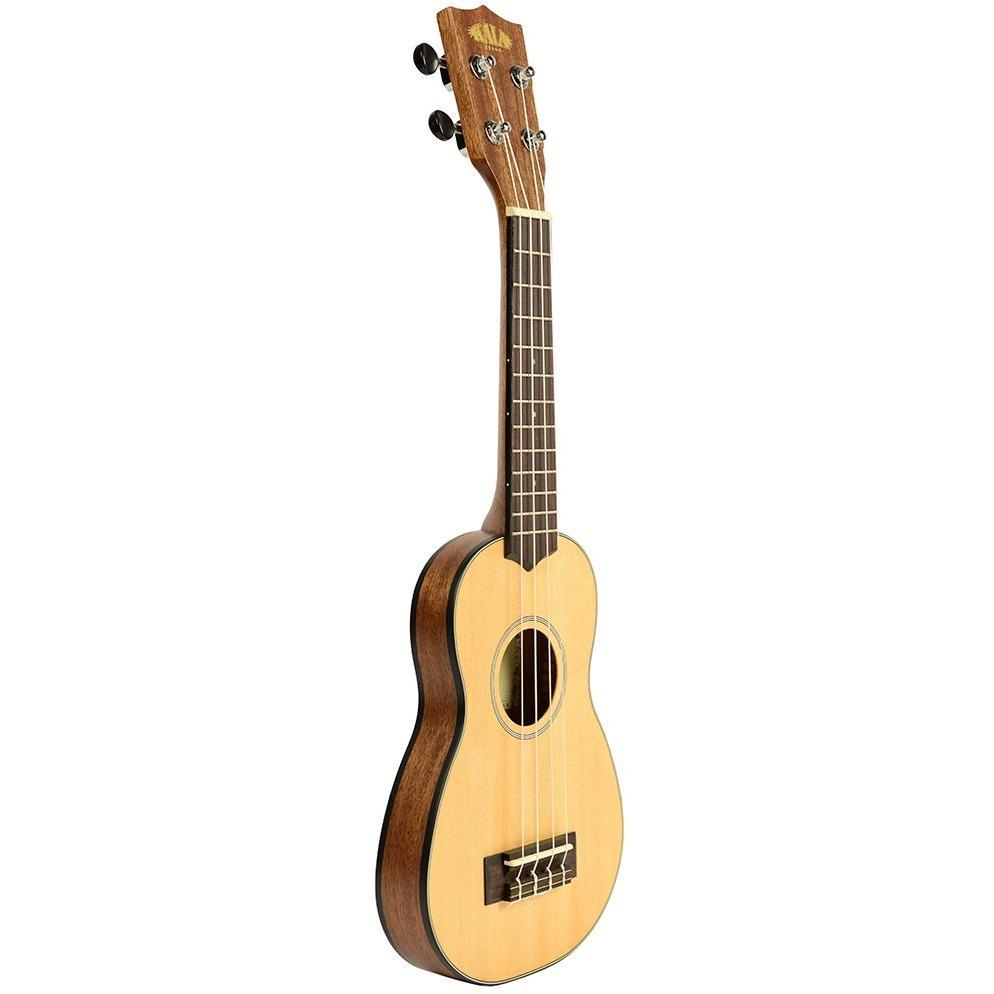 Kala Solid Spruce Travel Soprano Ukulele Ultimate Bundle
