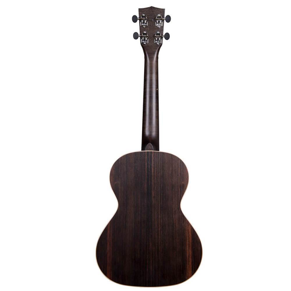 Kala Striped Ebony Tenor Ukulele Tribal Bundle