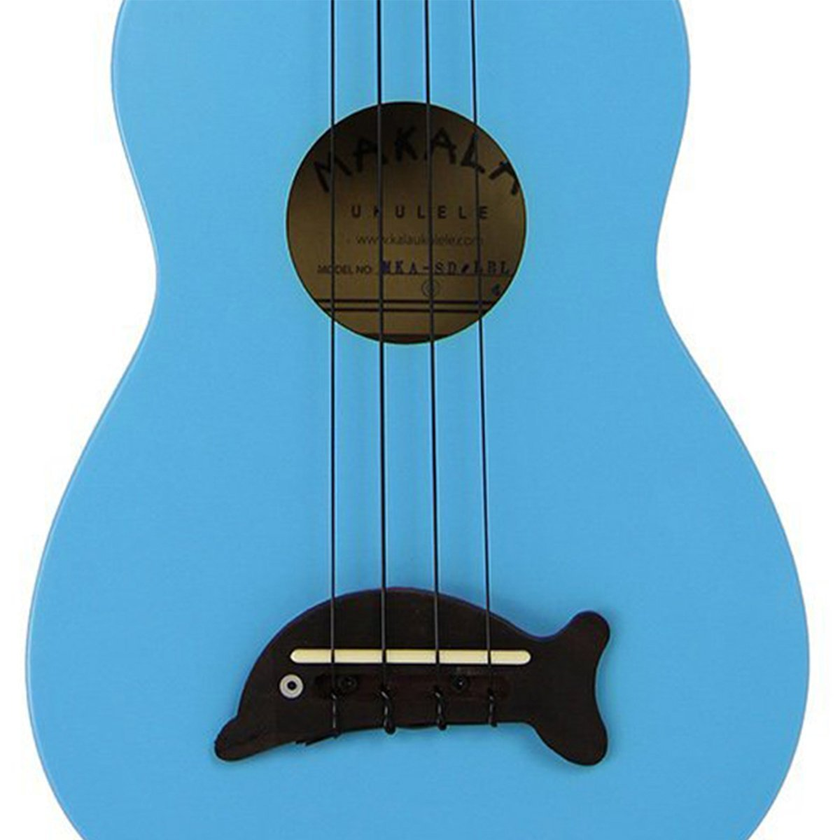 Makala Dolphin Soprano Ukulele Tribal Bundle - Blue Gloss