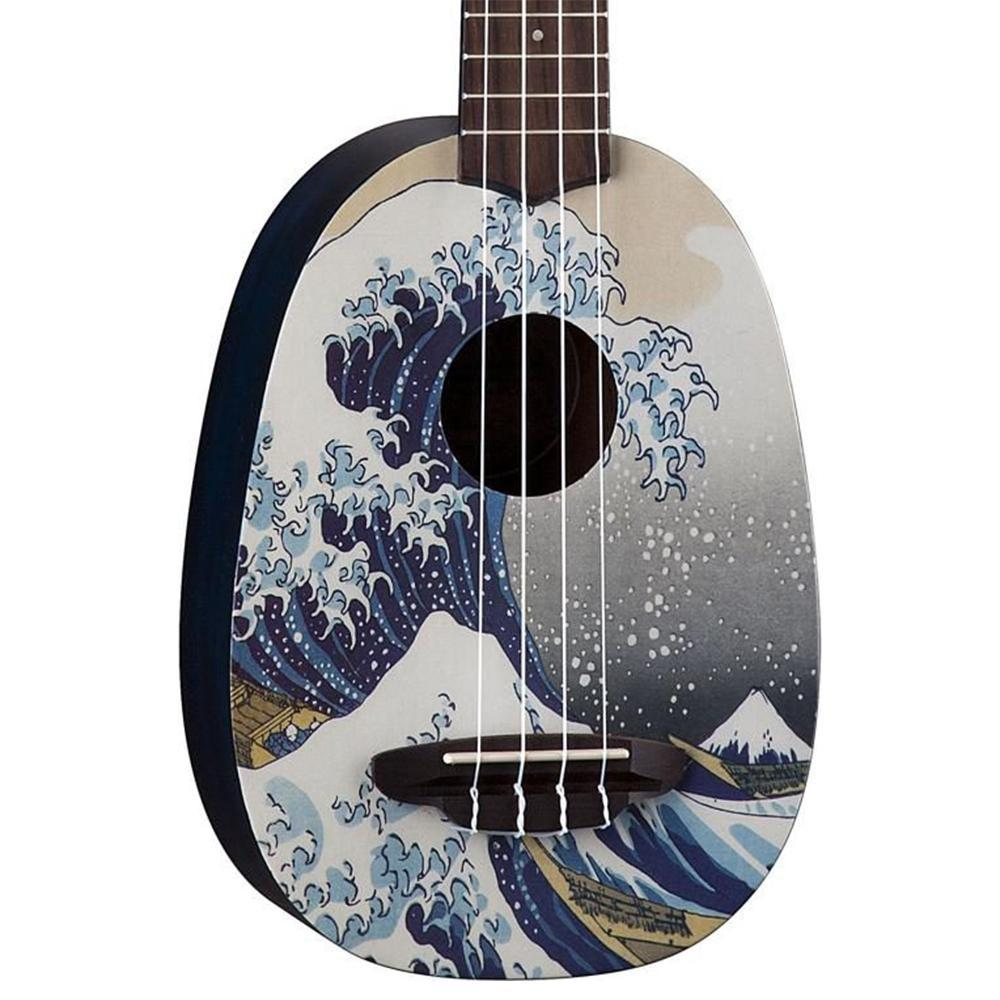 Luna Great Wave Soprano Ukulele Bundle