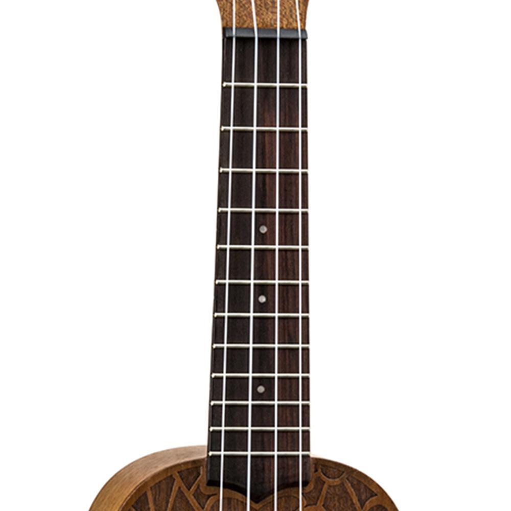Luna Peace Love Soprano Ukulele Bundle