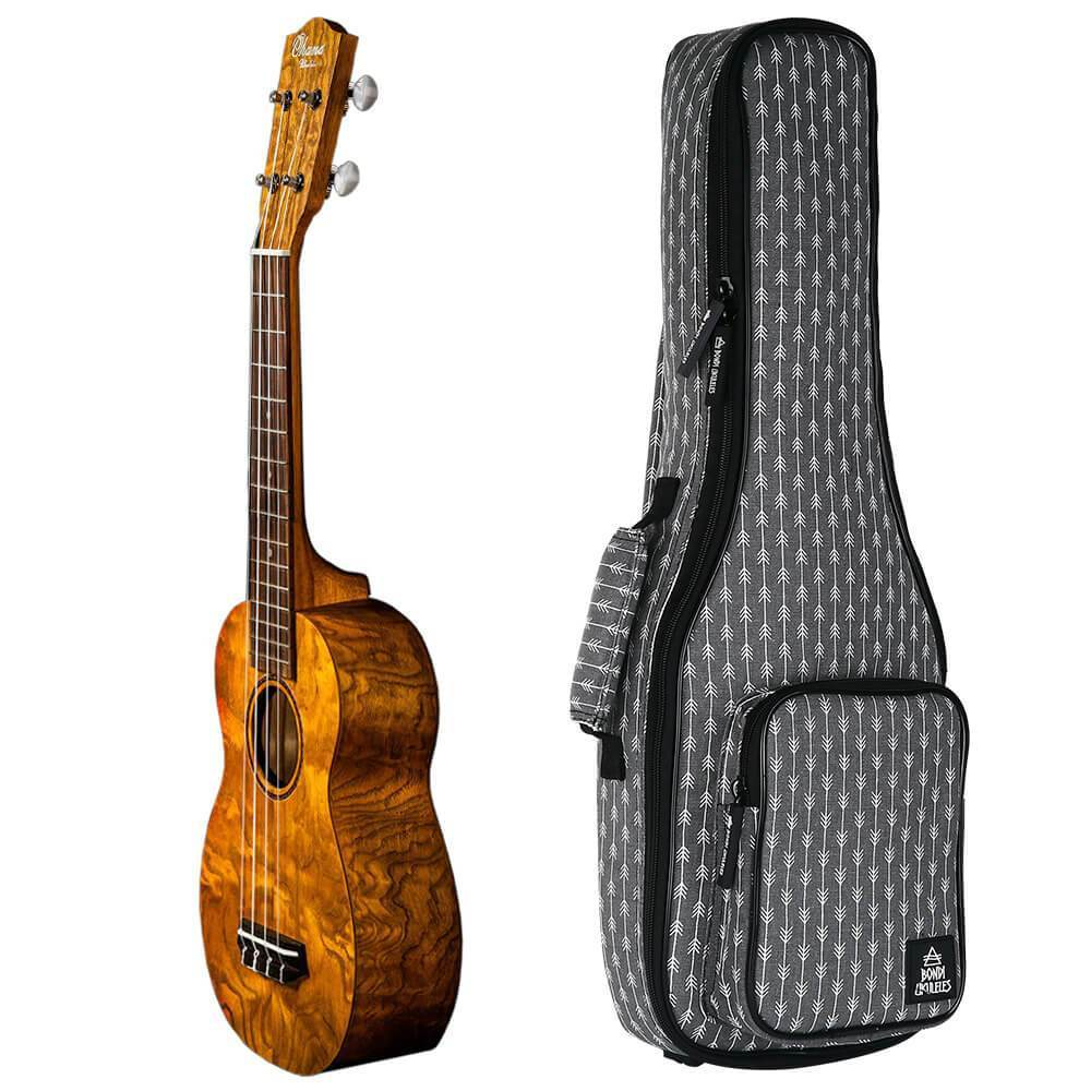 Ohana Soprano Willow Ukulele Bundle