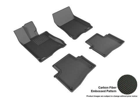 ACURA RLX 2014-2019 KAGU BLACK Front/2nd Row Floor Mat Package