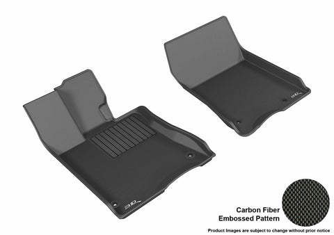 ACURA RLX 2014-2019 KAGU BLACK Front Row Floor Mat Set