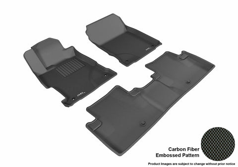 ACURA ILX 2013-2019 KAGU BLACK Front/2nd Row Floor Mat Package
