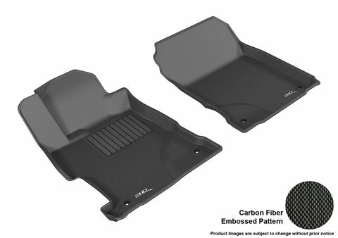 ACURA ILX 2013-2019 KAGU BLACK Front Row Floor Mat Set