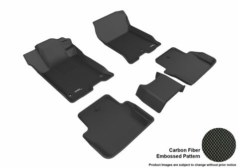 ACURA TLX FWD 2015-2019 KAGU BLACK Front/2nd Row Floor Mat Package