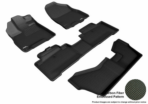 ACURA MDX SPORT HYBRID WITH BENCH 2nd Row Floor Mat 2017-2019 KAGU BLACK