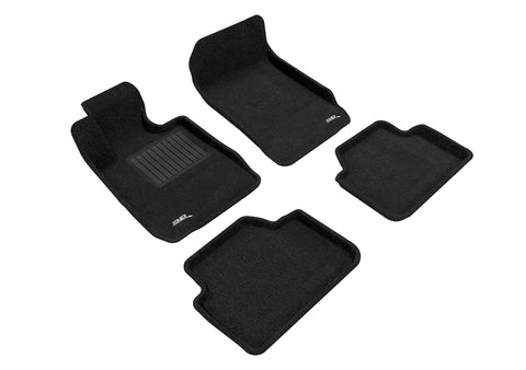 3D MAXpider BMW 3 SERIES SEDAN SDRIVE 2006-2011 ELEGANT BLACK Front/2nd Row Set