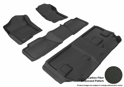 CHEVROLET SUBURBAN WITH BENCH 2ND ROW 2007-2014 KAGU BLACK Complete 3 Row Package