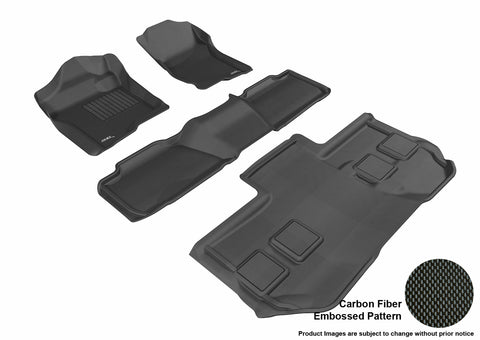 CHEVROLET SUBURBAN WITH BUCKET 2ND ROW 2011-2014 KAGU BLACK Complete 3 Row Package