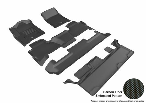 CHEVROLET TAHOE WITH BENCH 2ND ROW 2015-2019 KAGU BLACK Complete 3 Row Package