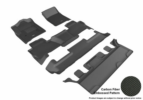 CHEVROLET TAHOE WITH BUCKET 2ND ROW 2015-2019 KAGU BLACK Complete 3 Row Package