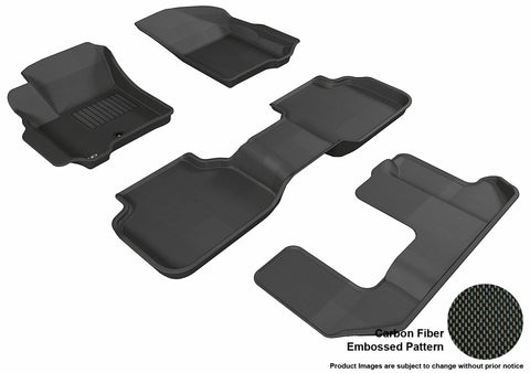 DODGE JOURNEY 2009-2012 KAGU BLACK Complete 3 Row Package (1 EYELET)