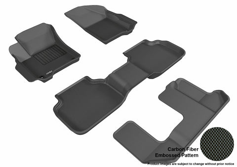 DODGE JOURNEY 2012-2019 KAGU BLACK Complete 3 Row Package (2 EYELETS)