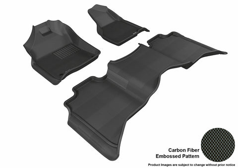 DODGE RAM 1500/ 2500/ 3500 CREW CAB 2012-2018/ RAM 1500 CLASSIC CREW CAB 2019 KAGU BLACK Front/2nd Row Package (2 EYELETS)