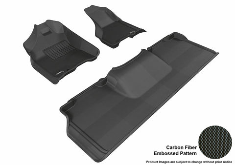 DODGE RAM 2500/ 3500 MEGA CAB 2010-2012 KAGU BLACK Front/2nd Row Package (1 EYELET)