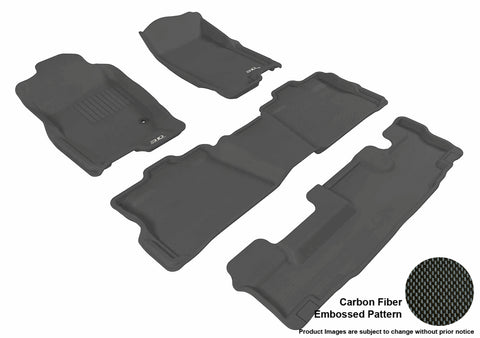 FORD EXPLORER WITH BENCH 2ND ROW 2006-2010 KAGU BLACK Complete 3 Row Package