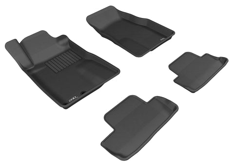 FORD MUSTANG 2005-2009 KAGU BLACK Front/2nd Row Floor Mat Package (2 EYELETS)