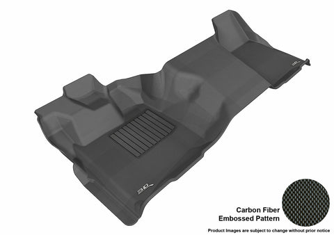 FORD F-250/ 350/ 450 2011-2016 REGULAR CAB KAGU BLACK Front Row (1 PC, NOT FIT 4X4 M/T FLOOR SHIFTER)