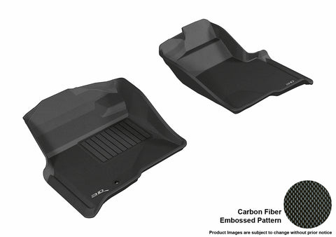 FORD F-150 2009-2010 REGULAR/ SUPERCAB/ SUPERCREW KAGU BLACK Front Row (1 EYELET, NOT FIT 4X4 M/T FLOOR SHIFTER)