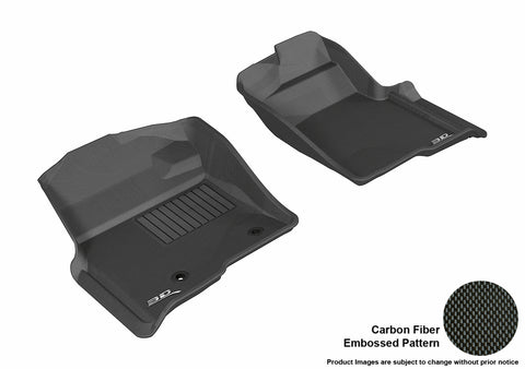 FORD F-150 2010-2014 REGULAR/ SUPERCAB/ SUPERCREW KAGU BLACK Front Row (2 POSTS, WITH HEATING DUCT, NOT FIT 4X4 M/T FLOOR SHIFTER)