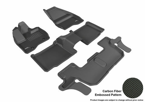 FORD EXPLORER WITH 2ND ROW CENTER CONSOLE 2011-2014 KAGU BLACK Complete 3 Row Package