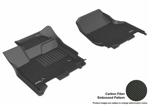 FORD F-150 2015-2019 SUPERCREW KAGU BLACK Front Row (2 EYELETS, NOT FIT 4X4 M/T FLOOR SHIFTERS)