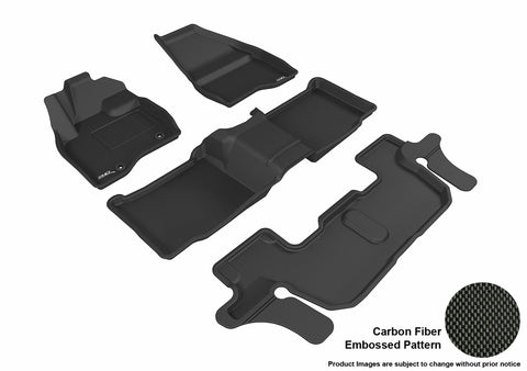 FORD EXPLORER WITH BENCH 2ND ROW 2015-2016 KAGU BLACK Complete 3 Row Package
