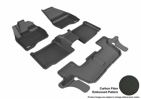 FORD EXPLORER 2015-2016 BUCKET 2ND ROW WITH CENTER CONSOLE KAGU BLACK Complete 3 Row Package