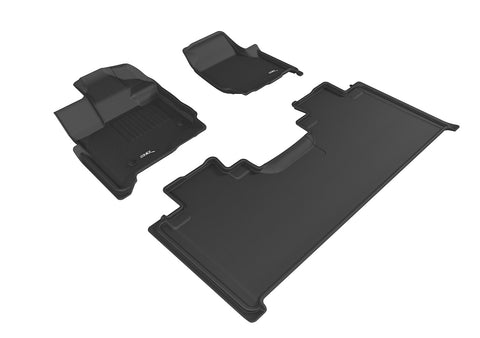 FORD F-150 2015-2020 SUPERCAB KAGU BLACK Front/2nd Row Floor Mat Package (2 EYELETS, NOT FIT 4X4 M/T FLOOR SHIFTER)