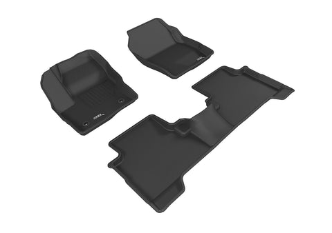FORD ESCAPE 2015-2019 KAGU BLACK Front/2nd Row Floor Mat Package