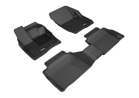 FORD FUSION 2017-2020 KAGU BLACK Front/2nd Row Floor Mat Package