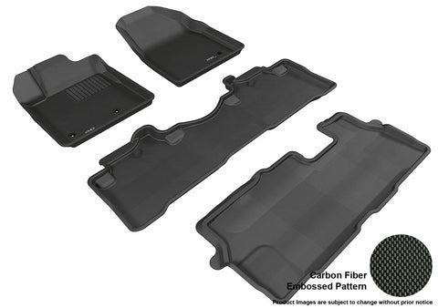 HONDA PILOT 2009-2015 KAGU BLACK Complete 3 Row Package