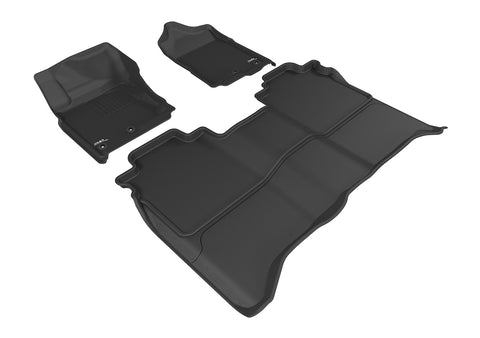NISSAN TITAN 2016-2019 CREW CAB KAGU BLACK Front/2nd Row Floor Mat Package (WITHOUT STORAGE BOX)