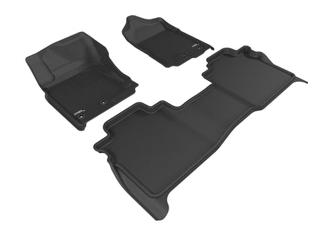 NISSAN TITAN 2016-2019 CREW CAB KAGU BLACK Front/2nd Row Floor Mat Package (WITH STORAGE BOX)