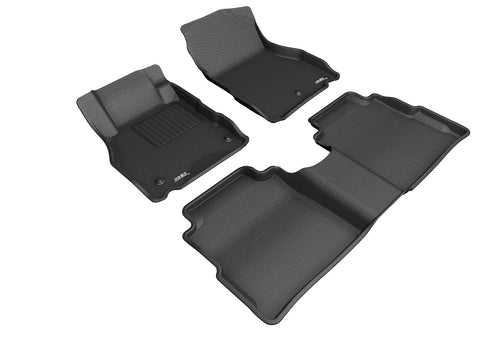 NISSAN KICKS 2018-2019 KAGU BLACK Front/2nd Row Floor Mat Package