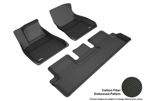 TESLA MODEL 3 2018-2019 KAGU BLACK Front/2nd Row Package