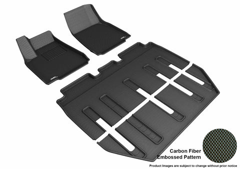 TESLA MODEL X FOLDING 7-SEATS 2017-2019 KAGU BLACK Complete 3 Row Package