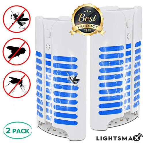 2019 MOST POWERFUL LIGHTSMAX Indoor Insect Killer, Plug-in Bug Zapper Electric Mosquito Killer Lamp with Light Sensor - Perfect for Indoor Pest Control 2 PKS
