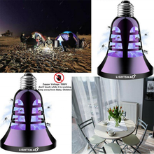 Bug Zapper Light Bulb - [2019 Upgraded] 2 in 1 Electronic Insect Killer, Mosquito Killer, Fly Killer UV Lamp, 110V E26/E27 Light Bulb Socket Base for Indoor and Outdoor