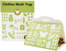 LIGHTSMAX Clothes Moth Traps with Premium Pheromone Attractant | Most Effective Trap Available | Non-Toxic Safe No Insecticides 6 PKS
