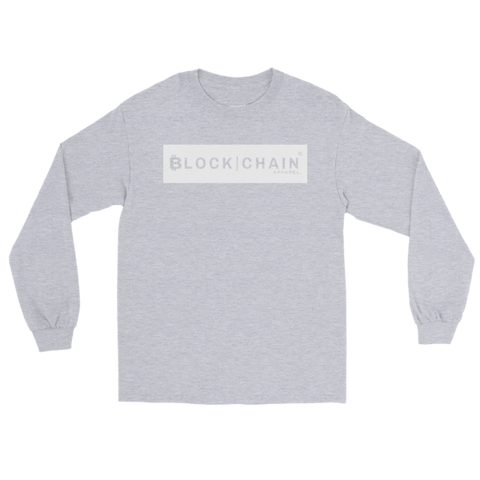 CLASSIC BLOCKCHAIN APPAREL BOLD BLOCK (CLASSIC FIT) HEATHER GREY/ WHITE