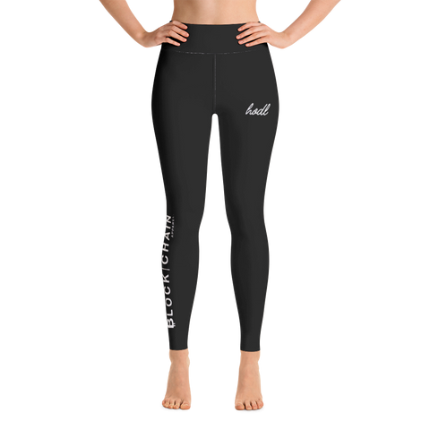 BLOCKCHAIN APPAREL LIFESTYLE (HIGH WAIST) LEGGINGS BLACK/ WHITE