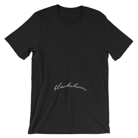 BLOCKCHAIN APPAREL FONT MATTERS TEE BLACK/ WHITE