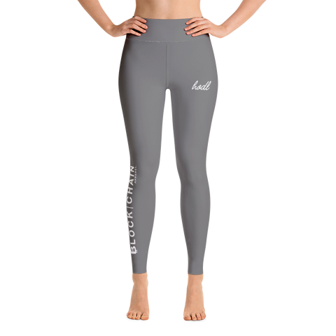 BLOCKCHAIN APPAREL LIFESTYLE (HIGH WAIST) LEGGINGS DARK GREY