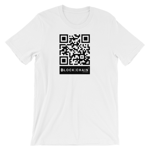 BLOCKCHAIN APPAREL SCAN TEE WHITE