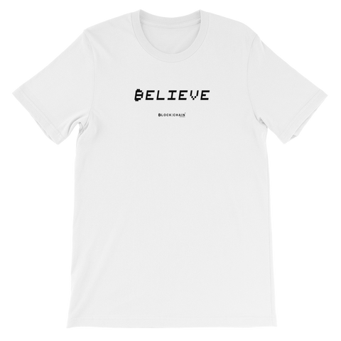 BELIEVE IN BLOCKCHAIN TECH TEE WHITE/ BLACK