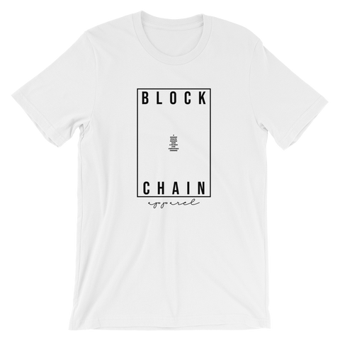 BLOCKCHAIN APPAREL SLOGAN MIX TEE WHITE/ BLACK