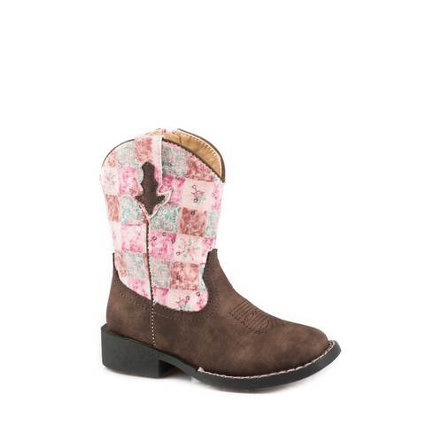 ROPER COWGIRL FLORAL SHINE KIDS BOOTS